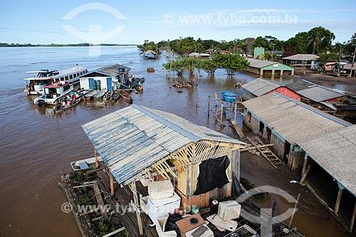 Assunto: Casas destruída durante à cheia do Rio Madeira / Local: Distrito de São Carlos - Porto Velho - Rondônia (RO) - Brasil / Data: 04/2014