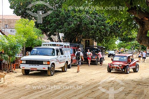 Assunto: Carros na Vila de Jericoacoara / Local: Jijoca de Jericoacoara - Ceará (CE) - Brasil / Data: 03/2014
