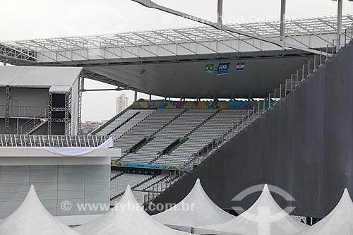 Assunto: Arquibancada da Arena Corinthians / Local: Itaquera - São Paulo (SP) - Brasil / Data: 06/2014