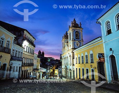 Assunto: Casarios históricos do Pelourinho com Igreja do Rosário da Baixa dos Sapateiros / Local: Salvador - Bahia (BA) - Brasil / Data: 09/2012