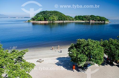 Assunto: Vista da Ilha de Brocoió a partir da Ilha de Paquetá / Local: Paquetá - Rio de Janeiro (RJ) - Brasil / Data: 05/2014