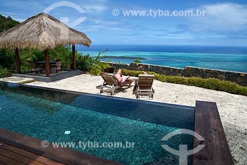 Assunto: Vista do mar a partir do hotel Lakaz Chamarel Exclusive Lodge na Vila de Chamarel / Local: Distrito de Rivière Noire - Maurício - África / Data: 11/2012
