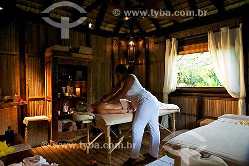 Assunto: Massagem no spa do hotel Lakaz Chamarel Exclusive Lodge na Vila de Chamarel / Local: Distrito de Rivière Noire - Maurício - África / Data: 11/2012