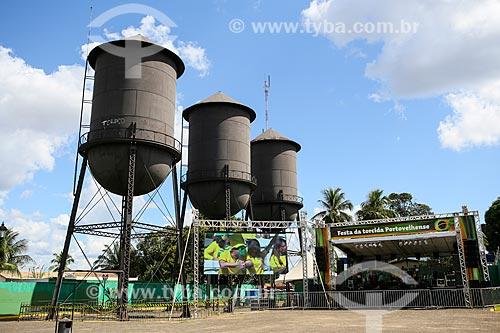 Assunto: Telão na Praça das Três Caixas DAgua durante a Copa do Mundo no Brasil / Local: Porto Velho - Rondônia (RO) - Brasil / Data: 06/2014