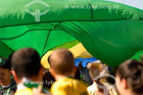 Assunto: Bandeirão do Brasil próximo à Arena Corinthians / Local: Itaquera - São Paulo (SP) - Brasil / Data: 06/2014