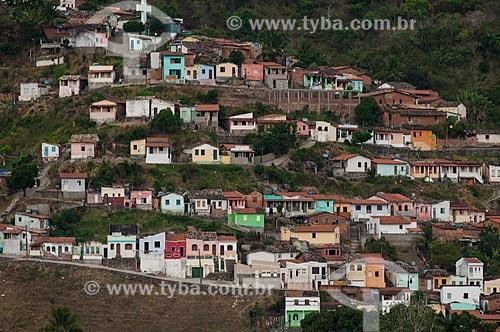 Assunto: Vista de moradias do município de São Félix em encosta de morro a partir da Cidade de Cachoeira / Local: Cachoeira - Bahia (BA) - Brasil / Data: 12/2010