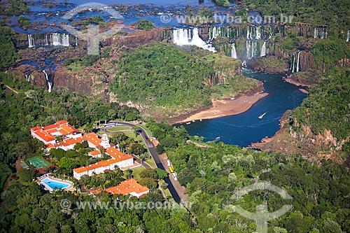 Assunto: Foto aérea do Belmond Hotel das Cataratas com as Cataratas do Iguaçu / Local: Foz do Iguaçu - Paraná (PR) - Brasil / Data: 05/2008