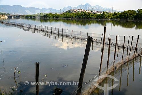 Assunto: Canal do Cunha - Cerca de proteção do programa ambiental de recuperação do manguezal da região / Local: Rio de Janeiro (RJ) - Brasil / Data: 03/2014