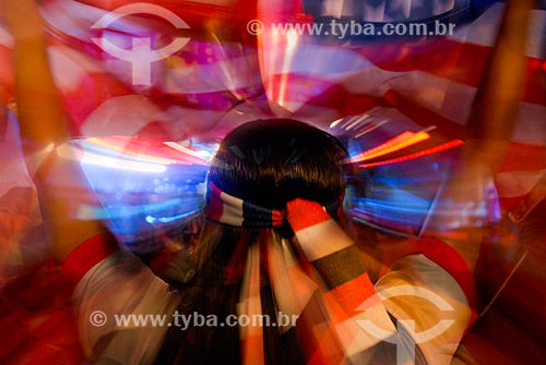 Assunto: Torcedores dos Estados Unidos assistem o jogo USA x Portugal na Fifa Fan Fest Copacabana durante a Copa do Mundo 2014 / Local: Copacabana - Rio de Janeiro (RJ) - Brasil / Data: 07/2014