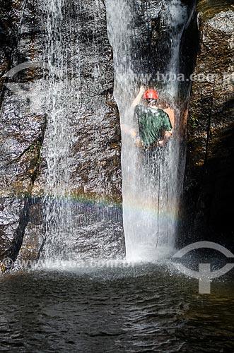 Assunto: Rapel na Cachoeira do Box no Horto / Local: Jardim Botânico - Rio de Janeiro (RJ) - Brasil / Data: 02/2014
