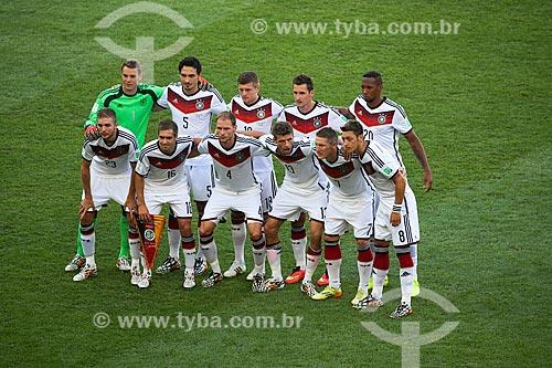 Assunto: Jogadores perfilados antes do jogo entre Alemanha x Argentina pela final a Copa do Mundo no Brasil / Local: Maracanã - Rio de Janeiro (RJ) - Brasil / Data: 07/2014