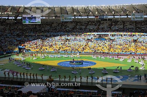 Assunto: Cerimônia de encerramento da Copa do Mundo no Brasil antes do jogo entre Alemanha x Argentina / Local: Maracanã - Rio de Janeiro (RJ) - Brasil / Data: 07/2014
