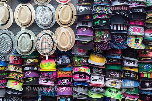Assunto: Chapéus e bonés à venda no Centro Luiz Gonzaga de Tradições Nordestinas / Local: São Cristovão - Rio de Janeiro (RJ) - Brasil / Data: 05/2014