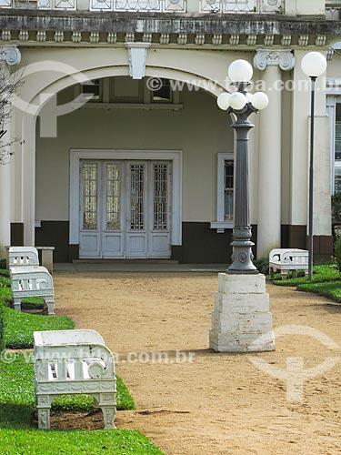 Assunto: Jardim da Estação de Tratamento de Água Moinhos de Vento (1928) - também conhecida como Hidráulica Moinhos de Vento / Local: Moinhos de Vento - Porto Alegre - Rio Grande do Sul (RS) - Brasil / Data: 05/2014