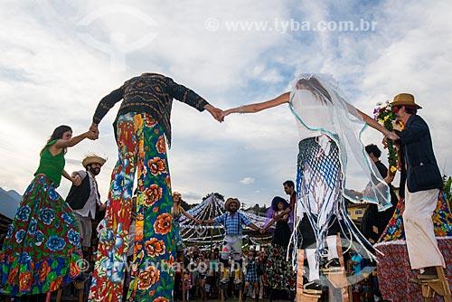 Assunto: Festa Junina da escola Arcanjo Gabriel para pessoas especiais  - Quadrilha de perna de pau / Local: Penedo - Itatiaia - Rio de Janeiro (RJ) - Brasil / Data: 06/2014