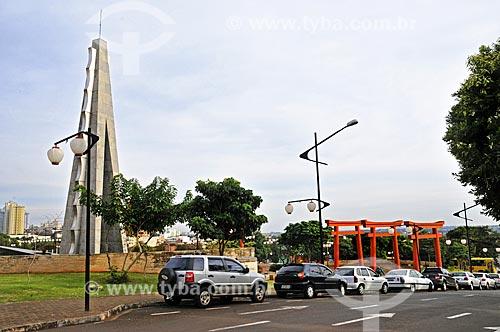 Assunto: Praça Tomi Nakagawa - Homenagem a última sobrevivente do navio Kasato Maru ? navio que transportou a primeira leva de imigrantes japoneses ao Brasil / Local: Londrina - Paraná (PR) - Brasil / Data: 04/2014