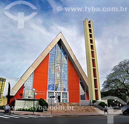 Assunto: Paróquia Sagrado Coração de Jesus - Catedral metropolitana de Londrina / Local: Londrina - Paraná (PR) - Brasil / Data: 04/2014