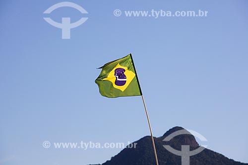 Assunto: Bandeira do Brasil em casa do Morro do Salgueiro / Local: Tijuca - Rio de Janeiro (RJ) - Brasil / Data: 07/2014