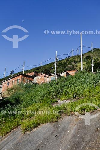 Assunto: Casas em encosta - Morro do Salgueiro / Local: Tijuca - Rio de Janeiro (RJ) - Brasil / Data: 07/2014