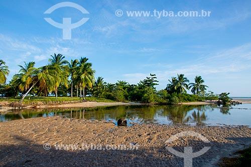 Assunto: Foz do Rio Maragogi na Praia de Camacho / Local: Maragogi - Alagoas (AL) - Brasil / Data: 12/2013