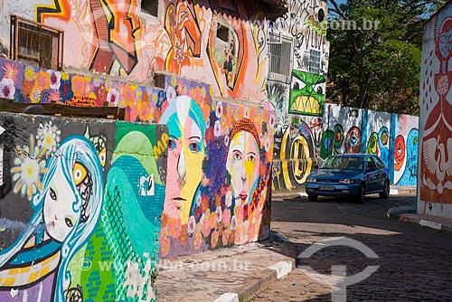 Assunto: Grafites na rua Beco do Batman - Vila Madalena / Local: Pinheiros - São Paulo (SP) - Brasil / Data: 03/2014