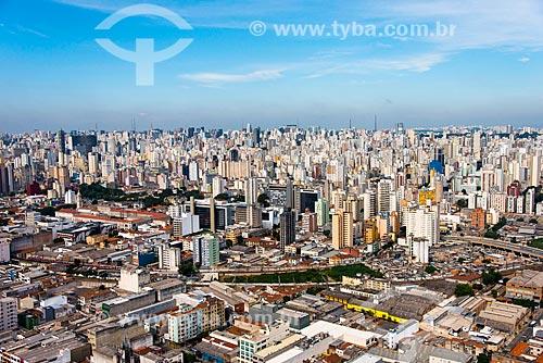 Assunto: Foto aérea do bairro de Campos Elísios - à esquerda o Liceu Coração de Jesus (1885) e à direita a Favela do Moinho / Local: Campos Elíseos - São Paulo (SP) - Brasil / Data: 04/2014