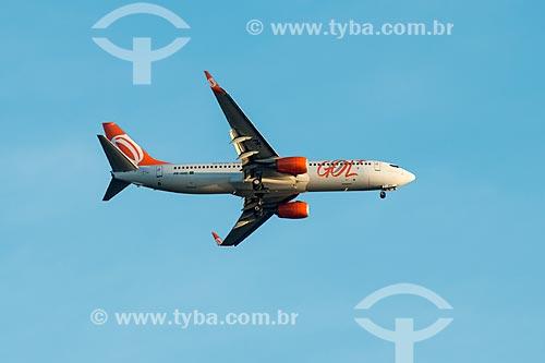 Assunto: Avião da GOL - Linhas Aéreas Inteligentes - sobrevoando o Rio de Janeiro / Local: Rio de Janeiro (RJ) - Brasil / Data: 07/2014