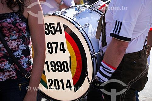 Torcedor alemão durante Jogo final da Copa do Mundo 2014  - Rio de Janeiro - Rio de Janeiro (RJ) - Brasil
