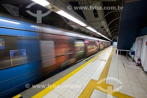 Metrô na estação Maracanã do Metrô Rio  - Rio de Janeiro - Rio de Janeiro (RJ) - Brasil