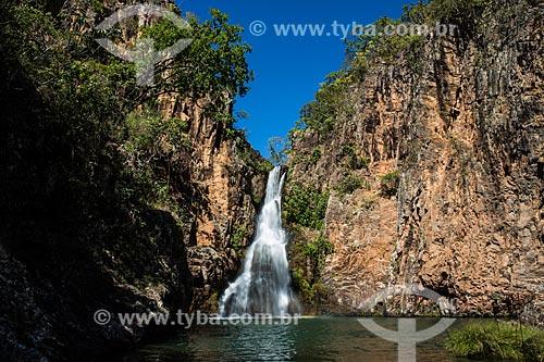 Cachoeira do Macaquinho na Fazenda Santuário das Pedras  - Alto Paraíso de Goiás - Goiás (GO) - Brasil