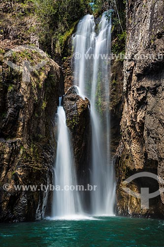 Cachoeira do Encontro na Fazenda Santuário das Pedras  - Alto Paraíso de Goiás - Goiás (GO) - Brasil