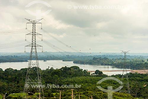Rio Xingu na altura da barragem - linha de transmissão da Usina de Tucuruí  - Altamira - Pará (PA) - Brasil