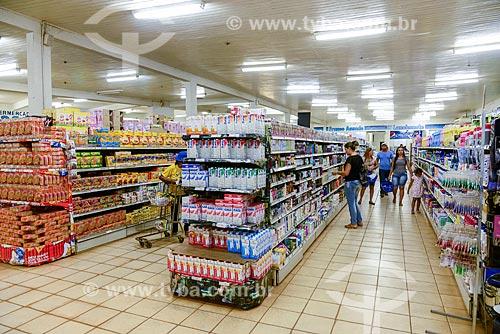 Gôndolas de supermercado  - Altamira - Pará (PA) - Brasil