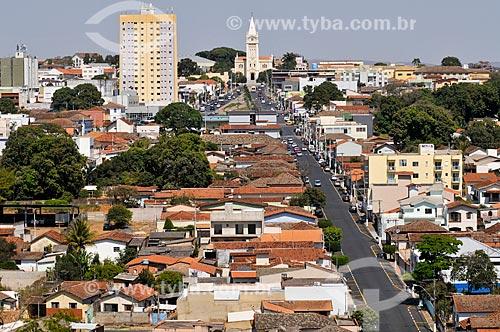 Vista geral da cidade de Araxá - Igreja Matriz de São Domingos ao fundo  - Araxá - Minas Gerais (MG) - Brasil