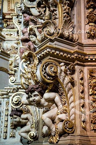 Interior da Igreja de Santa Efigênia (1723) também conhecida como Igreja de Chico Rei  - Ouro Preto - Minas Gerais (MG) - Brasil