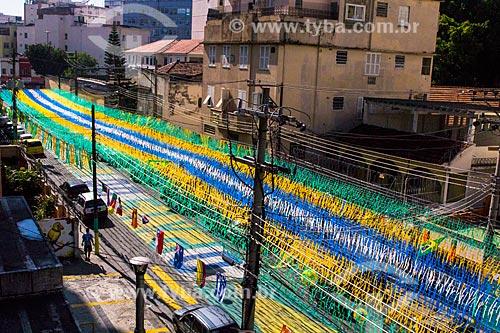 Rua Pereira Nunes decorada para a Copa do Mundo 2014  - Rio de Janeiro - Rio de Janeiro (RJ) - Brasil