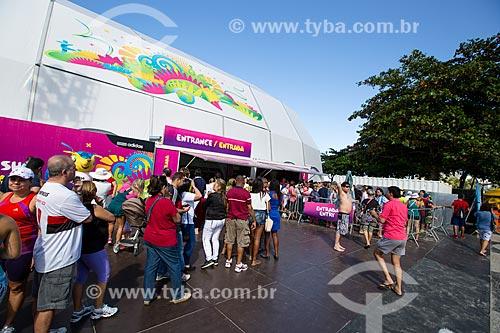 Entrada da Fifa Fan Fest antes do jogo entre Alemanha x Argentina pela final a Copa do Mundo no Brasil  - Rio de Janeiro - Rio de Janeiro (RJ) - Brasil