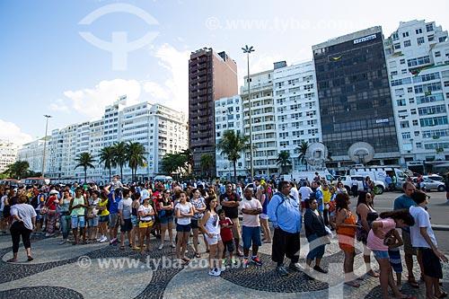 Fila para entrada da Fifa Fan Fest antes do jogo entre Alemanha x Argentina pela final a Copa do Mundo no Brasil  - Rio de Janeiro - Rio de Janeiro (RJ) - Brasil