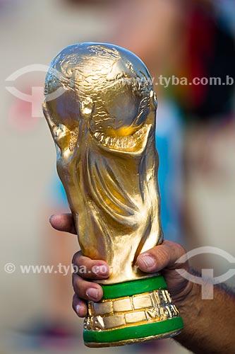 Réplica do Troféu da Copa do Mundo da FIFA durante a Copa do Mundo no Brasil  - Rio de Janeiro - Rio de Janeiro (RJ) - Brasil