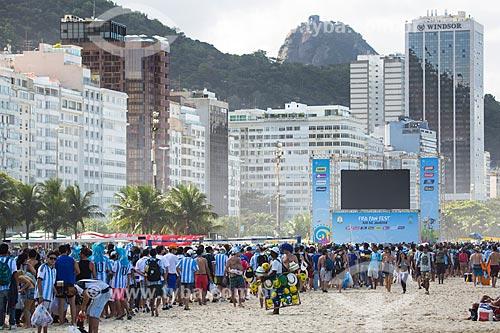 Torcedores Argentinos na Fifa Fan Fest antes do jogo entre Alemanha x Argentina pela final a Copa do Mundo no Brasil  - Rio de Janeiro - Rio de Janeiro (RJ) - Brasil