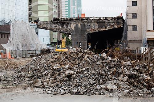 Trecho do Elevado da Perimetral próximo à Praça XV de Novembro  - Rio de Janeiro - Rio de Janeiro (RJ) - Brasil