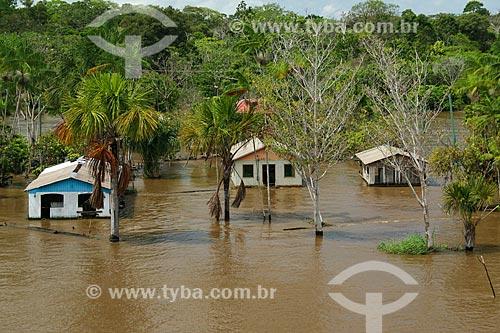 Casebre às margens do Rio Amazonas  - Urucará - Amazonas (AM) - Brasil