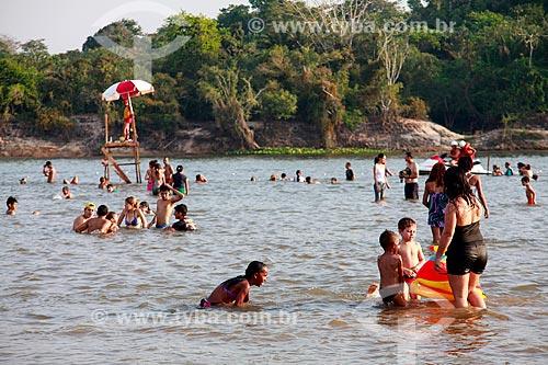 Salva vidas na praia fluvia do Rio Guaporé  - Porto Velho - Rondônia (RO) - Brasil