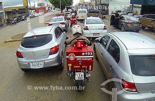 Treinamento dos bombeiros de Porto Velho - simulação de primeiro atendimento com motocicletas  - Porto Velho - Rondônia (RO) - Brasil