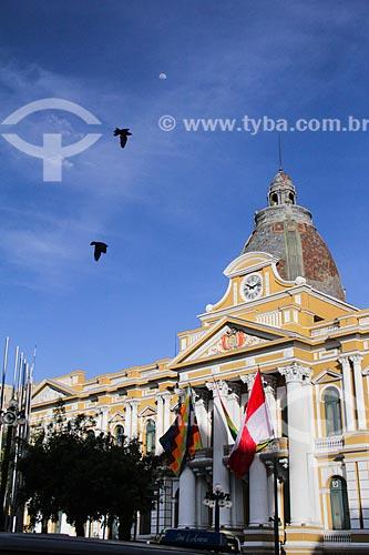 Palacio Quemado (Palácio Queimado) - sede do governo da Bolívia  - La Paz - Departamento de La Paz - Bolívia