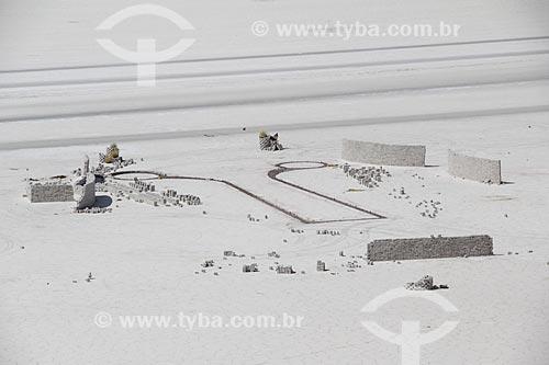 Construção de hotel de sal no Salar de Uyuni  - Departamento Potosí - Bolívia