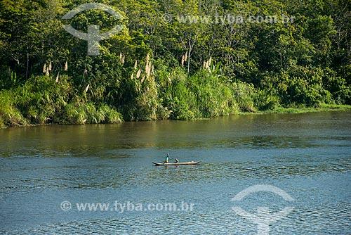 Rio de Contas próximo da foz em Itacaré  - Itacaré - Bahia (BA) - Brasil