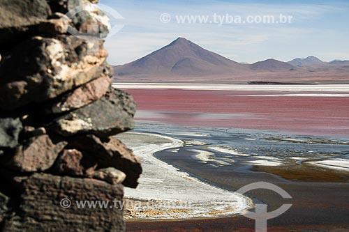 Laguna Colorada na Reserva Nacional de Fauna Andina Eduardo Avaroa  - Departamento Potosí - Bolívia