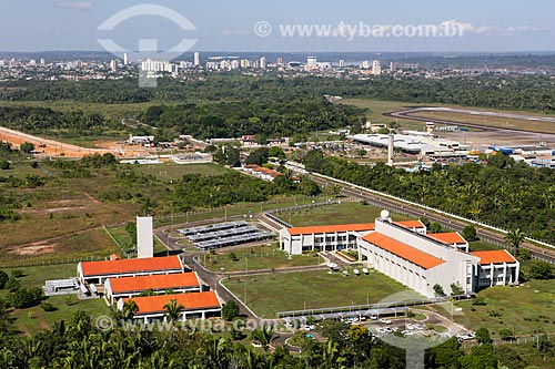 Foto aérea da sede do Sistema de Proteção da Amazônia (SIPAM)  - Porto Velho - Rondônia (RO) - Brasil