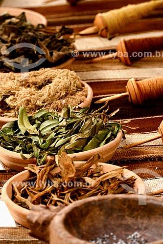 Erva utilizadas tradicionalmente no tingimento dos tecidos das comunidades do Vale Sagrado  - Peru